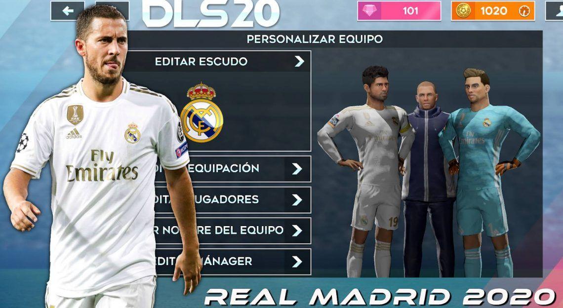 Dls 20 Mod Apk Real Madrid 2020 Download Apk Games Club In 2020 Real Madrid Kit Real Madrid Real Madrid Team
