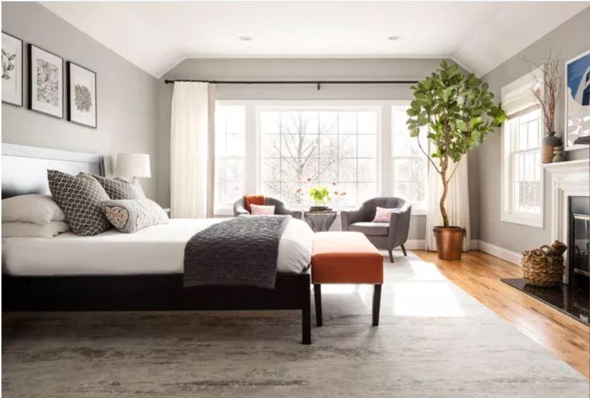 Benjamin Moore Coventry Grey Treeline Master Bedroom Houzz