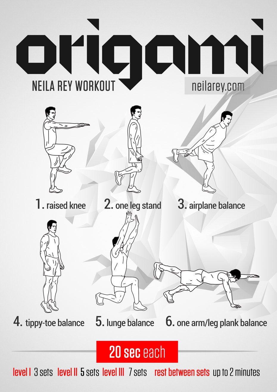 Origami Workout #fitness #balance #workout #workoutroutine