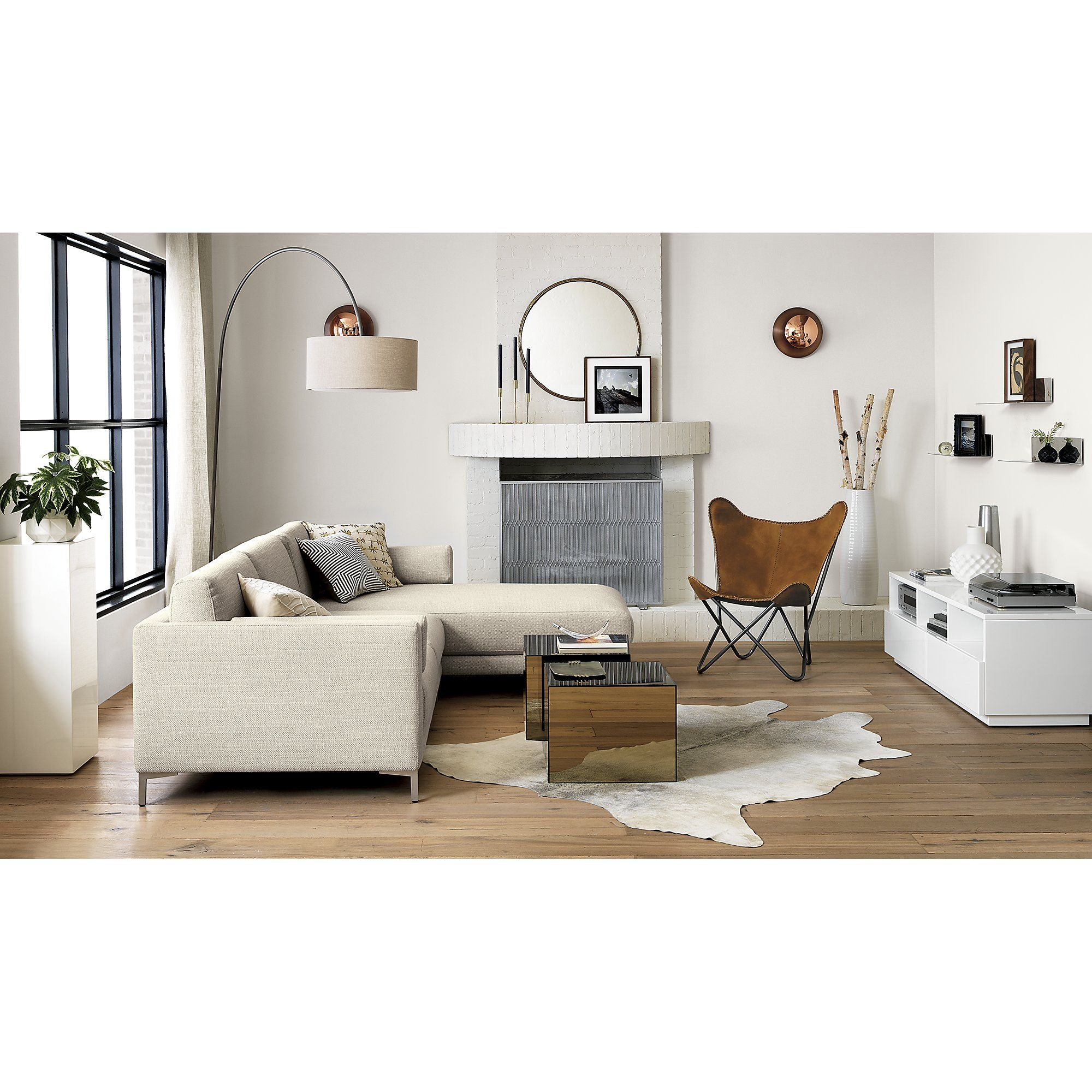 Panes Fireplace Screen Cb2 Leather Butterfly Chair Minimalist Living Room Small Living Room Design