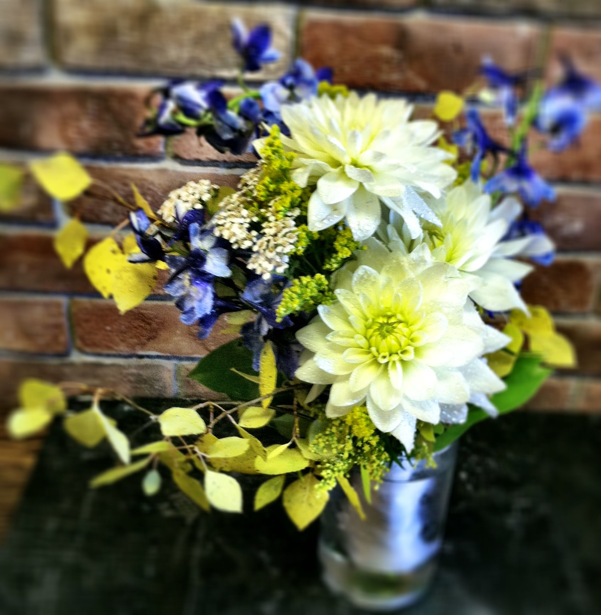 Wedding Flowers For November: Fall-themed Bridesmaid Bouquet For A Wedding On Lake