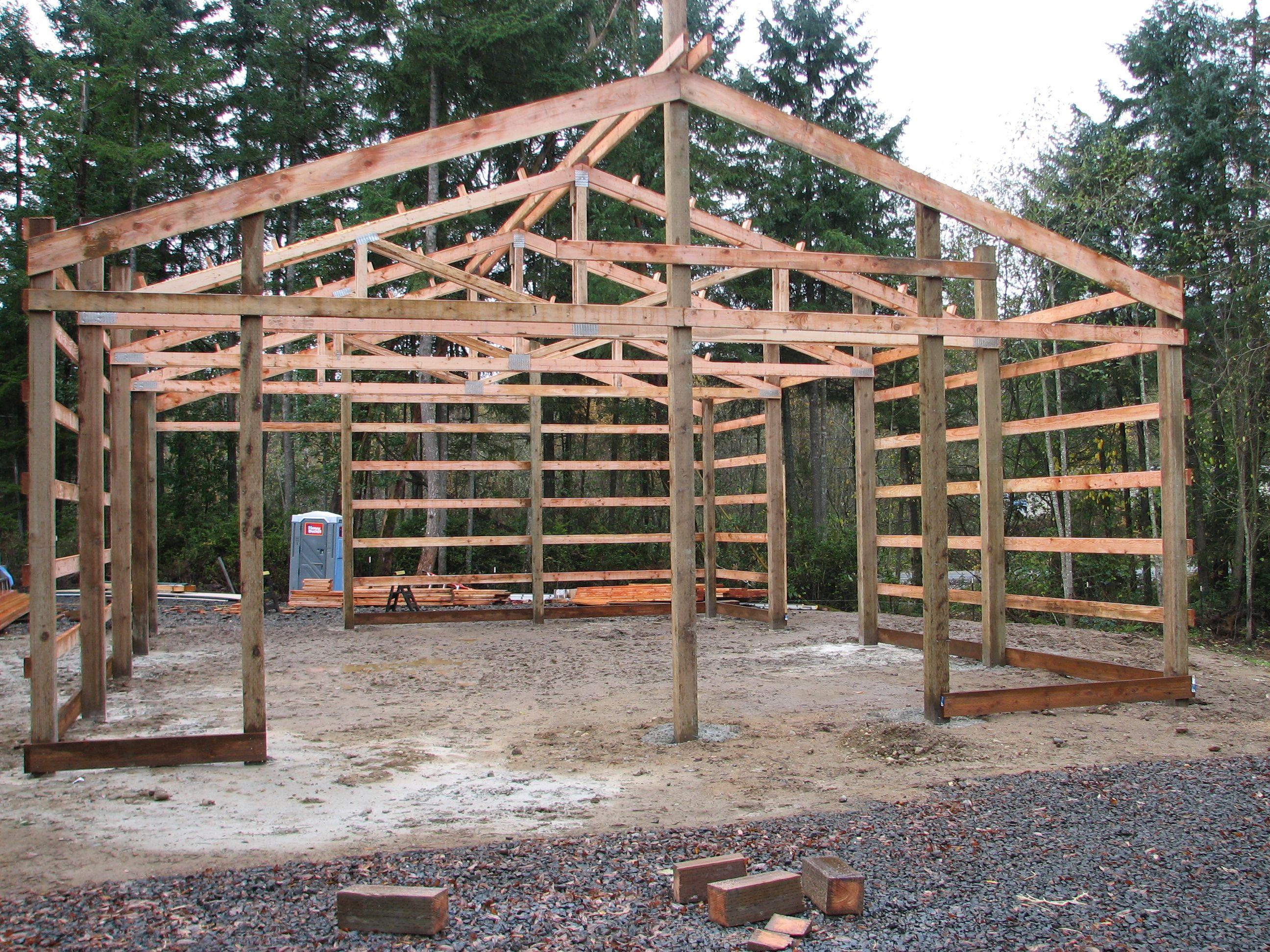 Layout Barn construction, Pole barn plans
