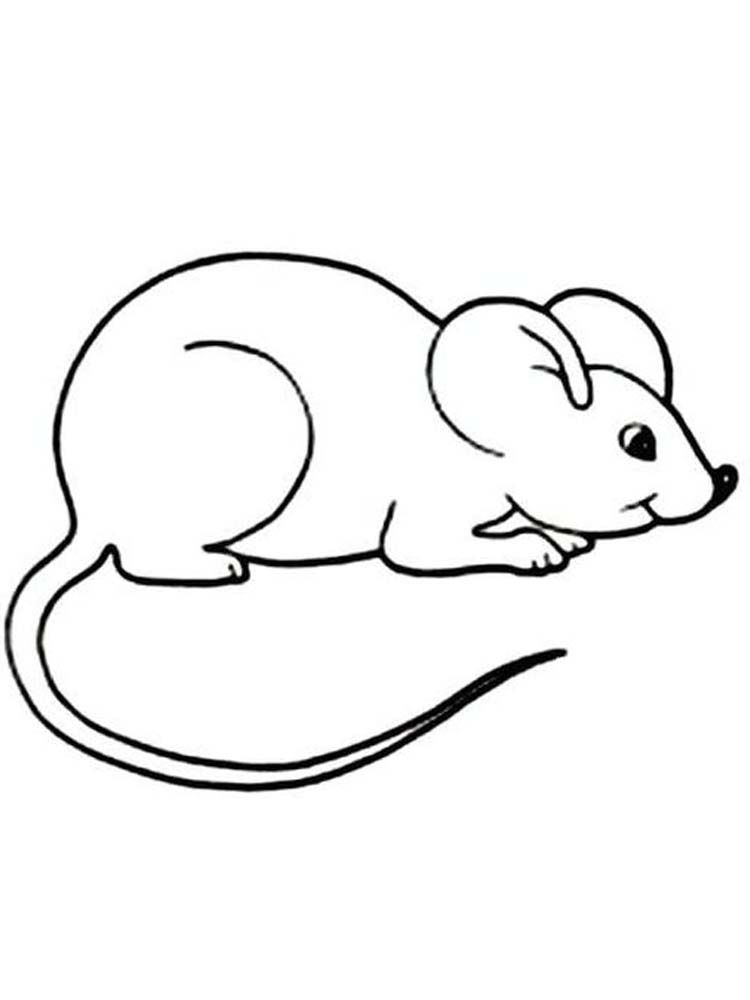 Deer Mouse Coloring Page