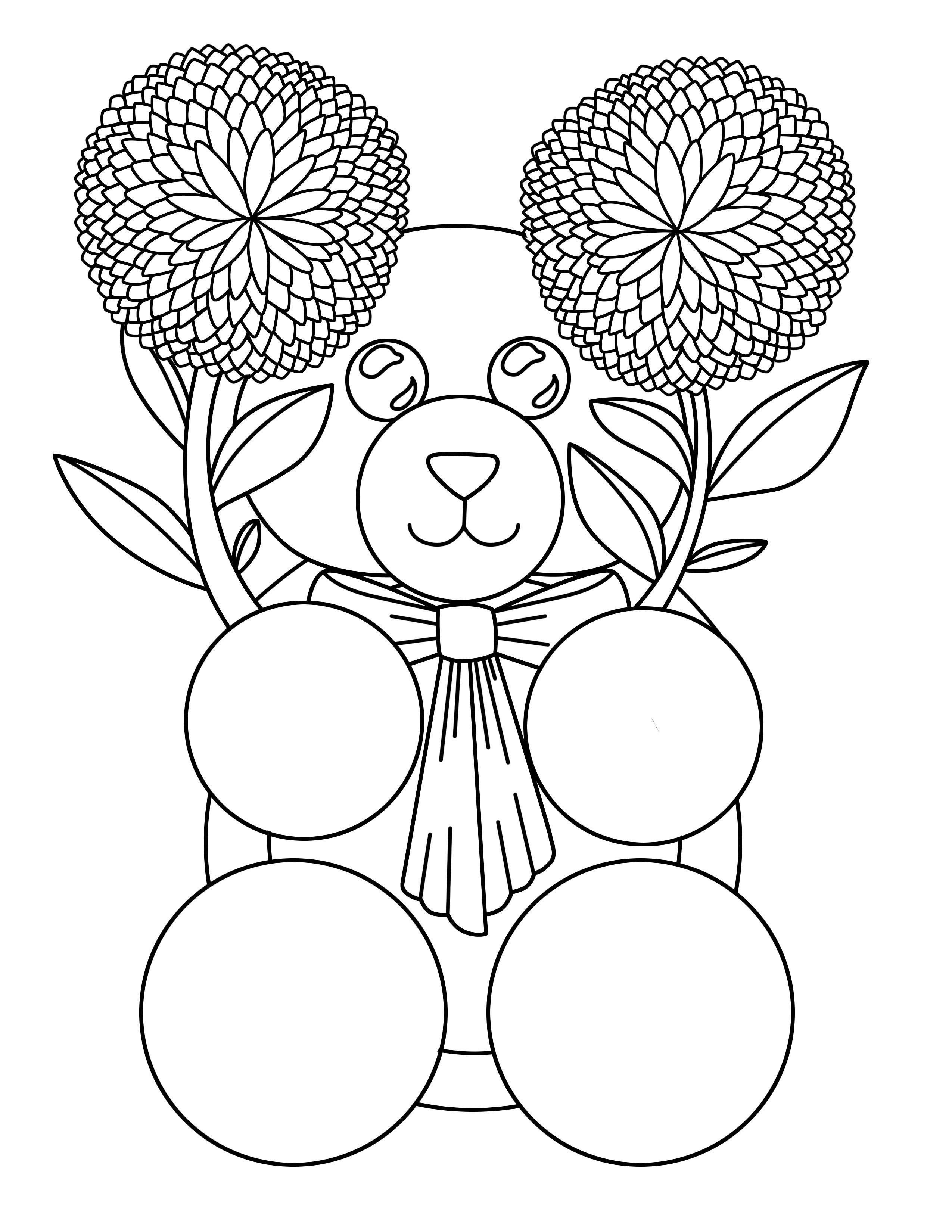 A Cute Little Bear Coloring Page You Can Print And Color Bear