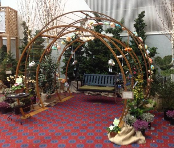 Our Portal Arbors, One With The New Swing. Photo From Yard Garden Patio Show
