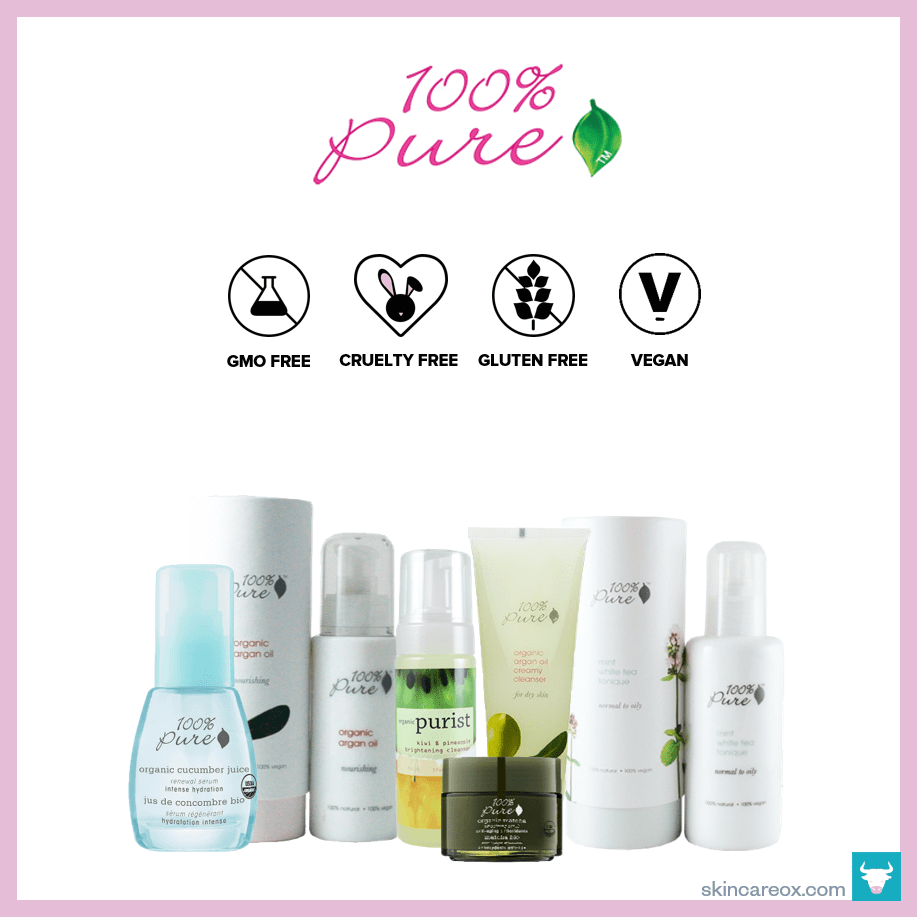 100 Pure Bunch Of Other Non Toxic Beauty Brands Organic Skin Care Brands Organic Skin Care Skin Care Brands
