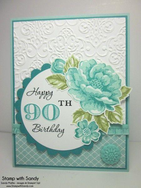 Stippled Blossoms 90th Birthday