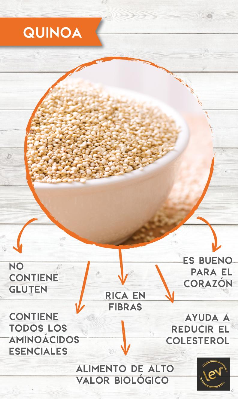 Se considera proteína en grano, la quinoa es beneficiosa para los músculos y para una buena salud cardiovascular.