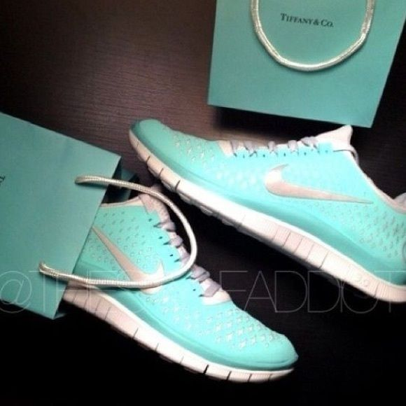 a7f9b9cab3fd Gently used Tiffany blue nike! Beautiful Nike free Tiffany blue bikes!  Please see pictures for wear and feel free to ask questions.