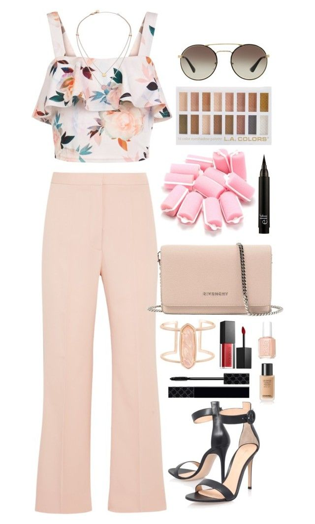 """""""Spring into summer"""" by krys-imvu on Polyvore featuring New Look, STELLA McCARTNEY, Gianvito Rossi, Givenchy, Kendra Scott, Michael Kors, Smashbox, Gucci, Essie and Prada"""