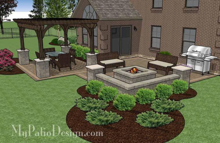 530 sq ft fun family patio design