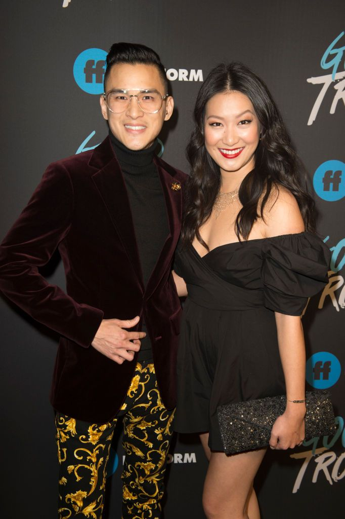 """TROUBLE - The cast and crew of Freeform's """"Good Trouble"""" gathered at... 