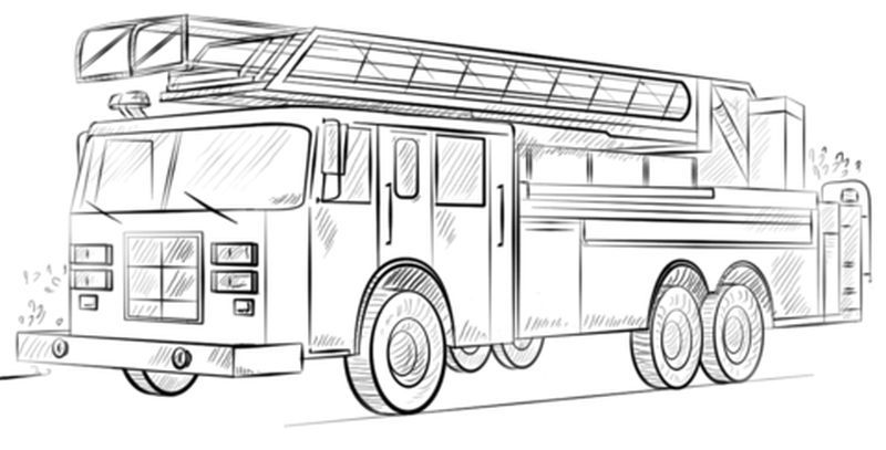 Fire Engine Coloring Pages Printable Truck Coloring Pages Fire Truck Drawing Fire Trucks