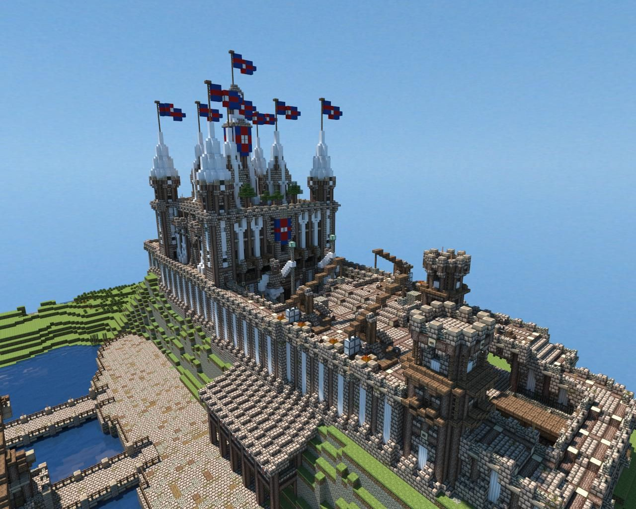 A Minecraft Castle Created By