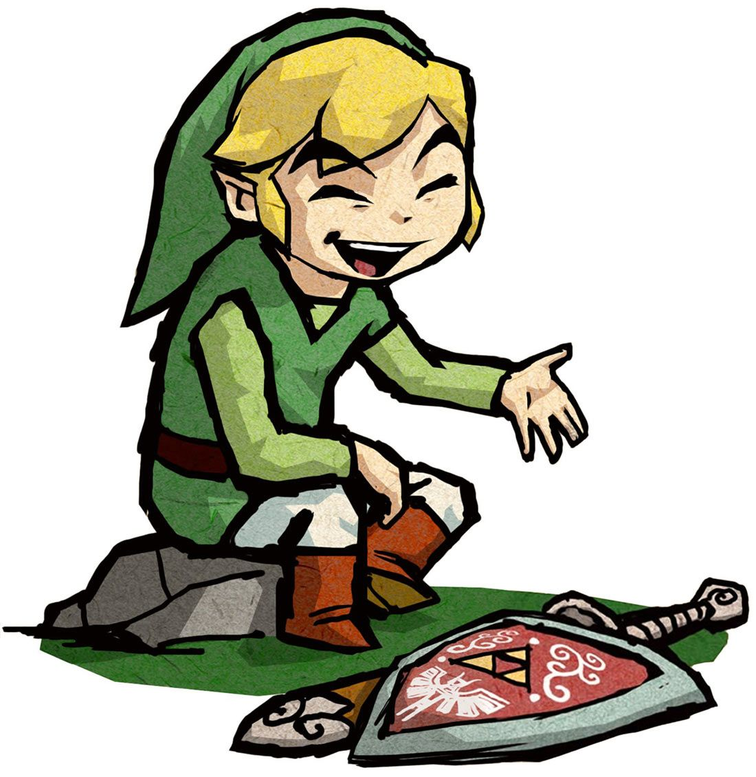 Link Sitting - Characters & Art - The Legend of Zelda: The Wind ...