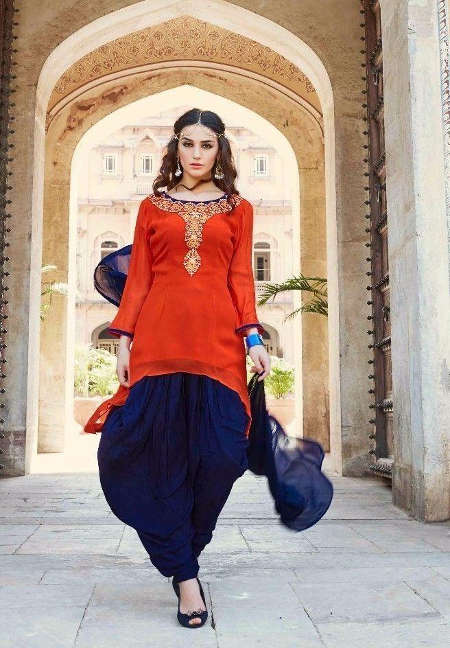 374db4dfbe Indian Bollywood Pakistani Designer Salwar Kameez georgette punjabi suit  size 38 | eBay