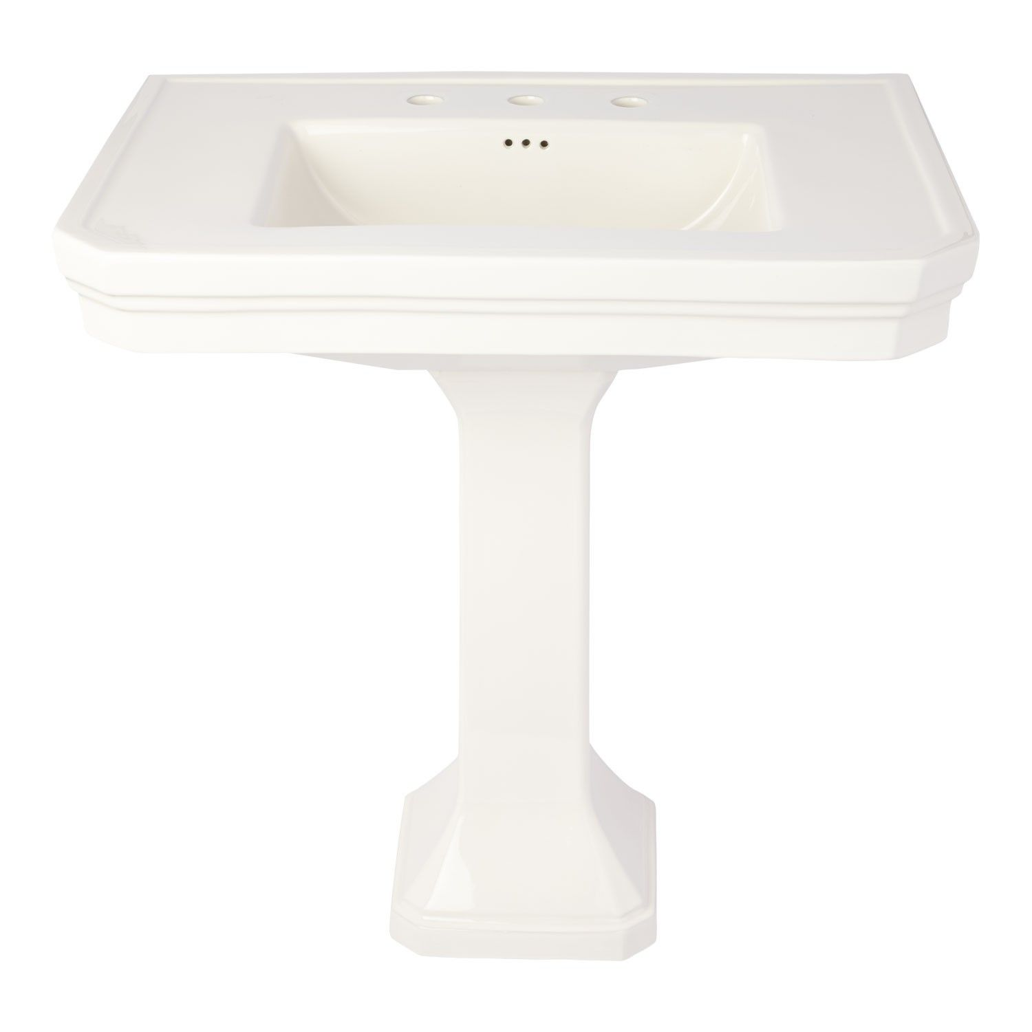 The Streamlined Design Of The Kacy Pedestal Sink Is Perfect For Any Style  Home Decor. This Pedestal Features A Decorative, Stepped Interior And  Exterior For ...