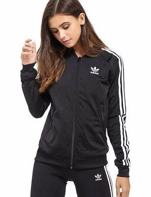 564d9032 SMALL-adidas-Originals-Women-039-s-SUPERGIRL-TRACK-TOP-JACKET -AJ8432-BLACK-LAST-1