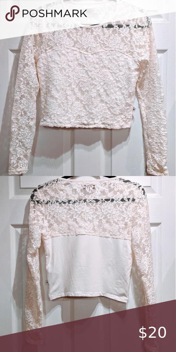 Hollister lace crop top sz L