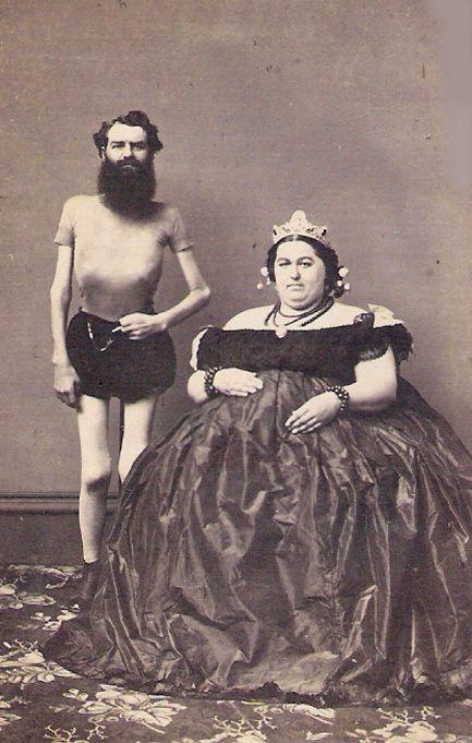 Pt barnum freaks rare skeleton man fat lady 1860s photo pt barnum freaks rare skeleton man fat lady 1860s photo excellent quality stopboris Choice Image