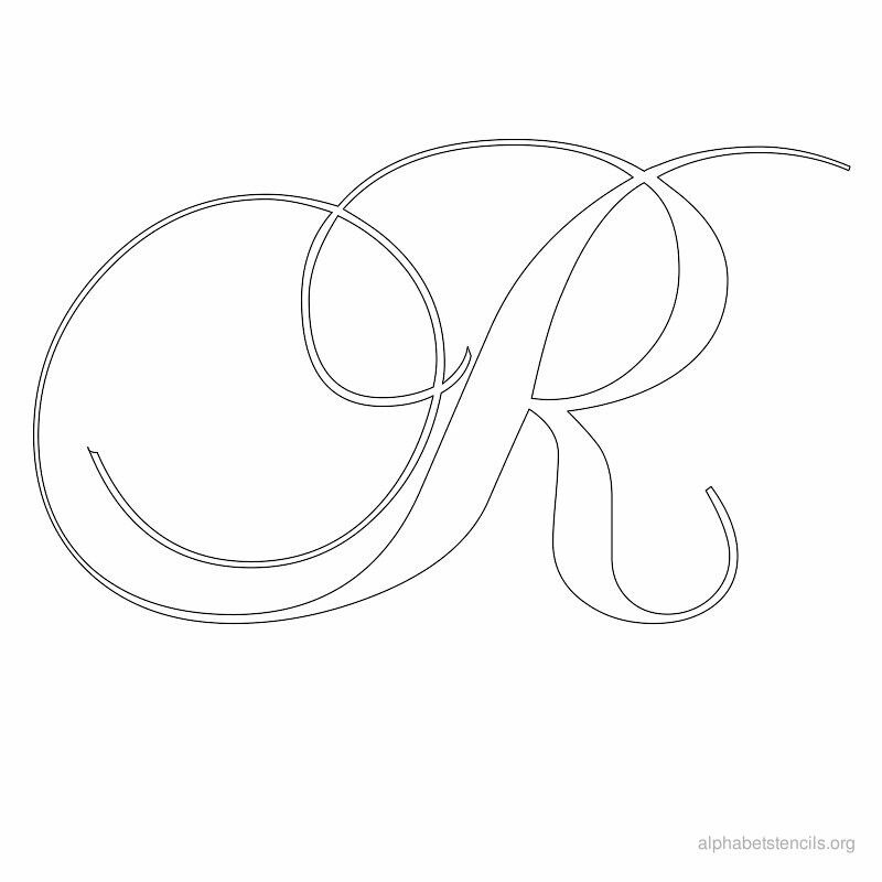 Selective image within calligraphy stencils printable