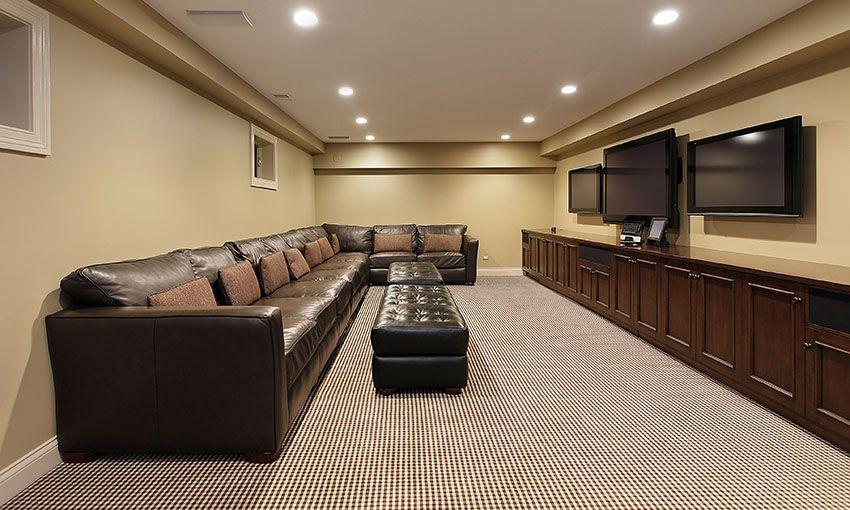 47 Cool Finished Basement Ideas Design Pictures  Finished Adorable Basement Living Rooms Design Inspiration Design