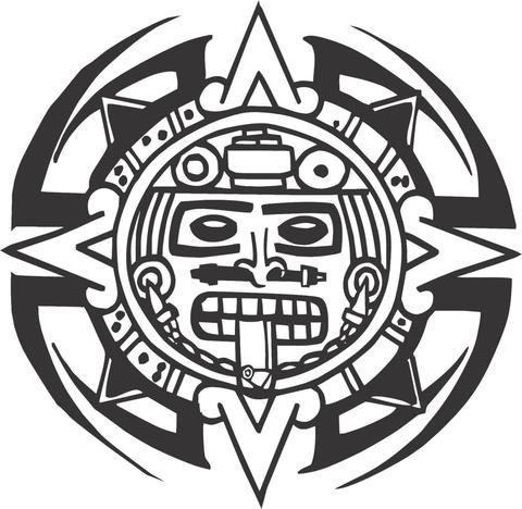 5224e9635 Tribal Aztec Calendar Sticker Decal 20 Colors To Choose   Mexican ...