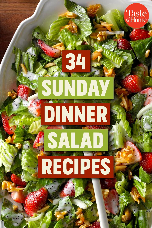 34 Phenomenal Sunday Dinner Salads Salad Recipes For Dinner Salad Recipes Dinner Salads