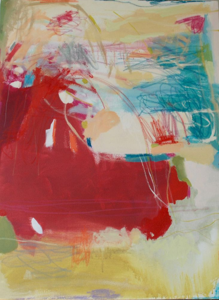 Lauren acrylic abstract painting by Michelle Armas