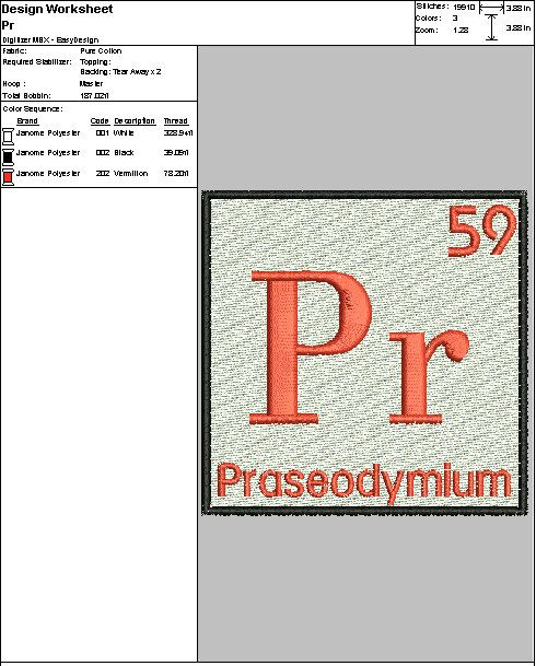 Embroidery Digital File Periodic Table Pr By Dixiecharmm On Etsy
