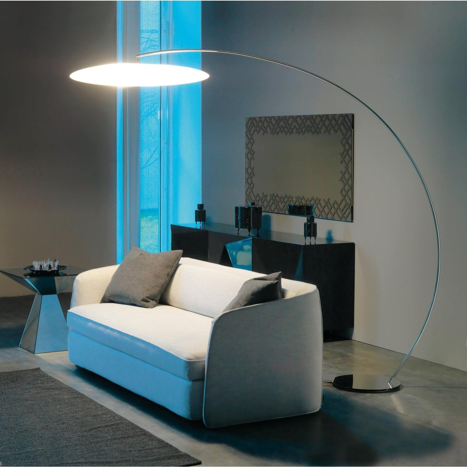 Home Accessories. Soothing Standing Arc Floor Lamps Designs For ...