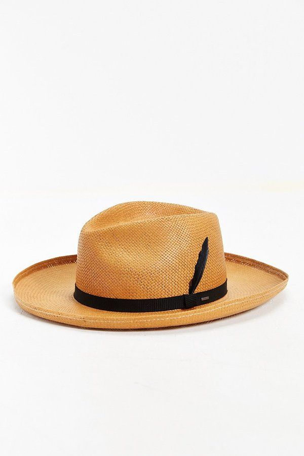 8edb371465869 Bailey Of Hollywood Fernley Wide Brim Straw Fedora Hat Mens Straw Hats