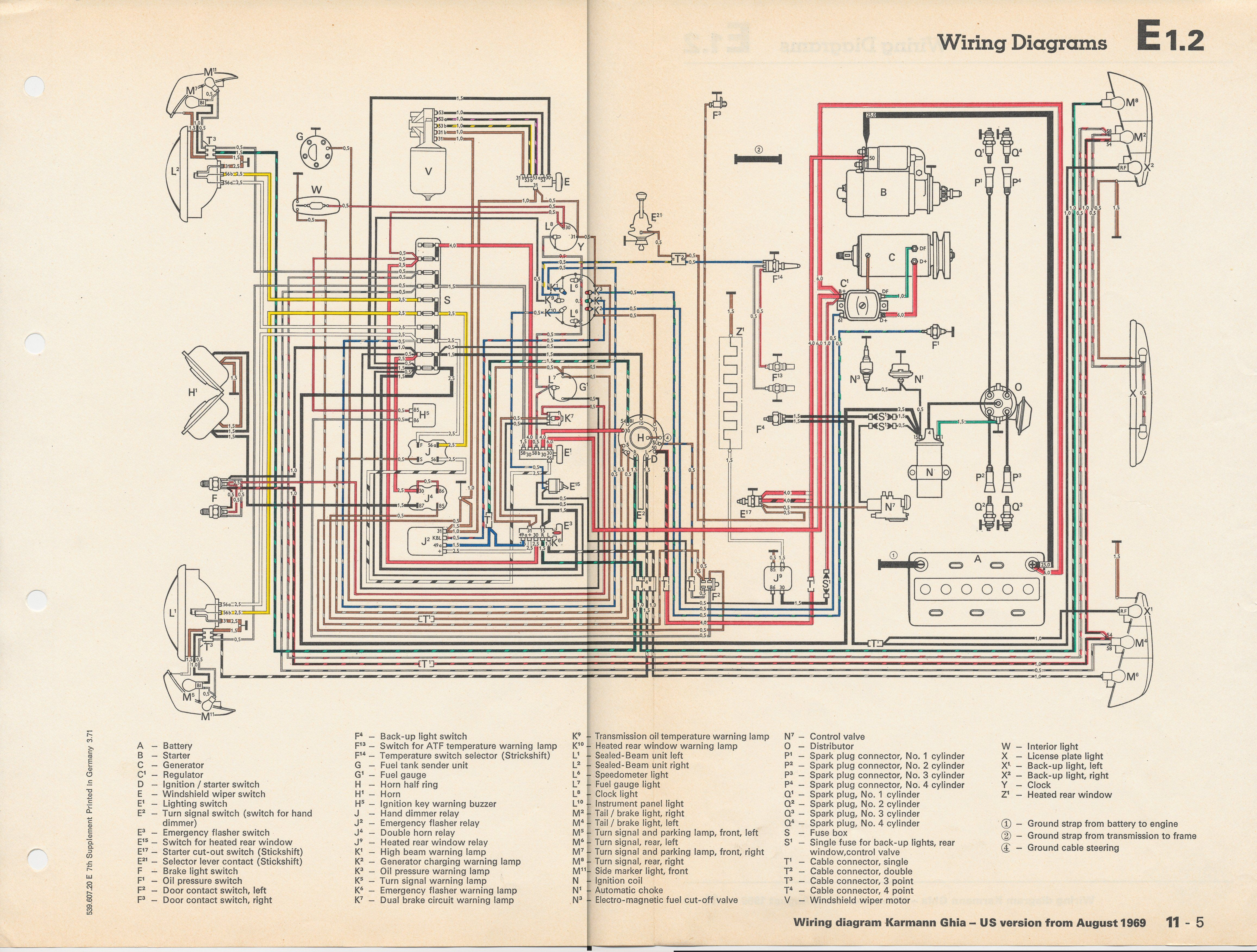 Karmann Ghia Wiring Diagrams