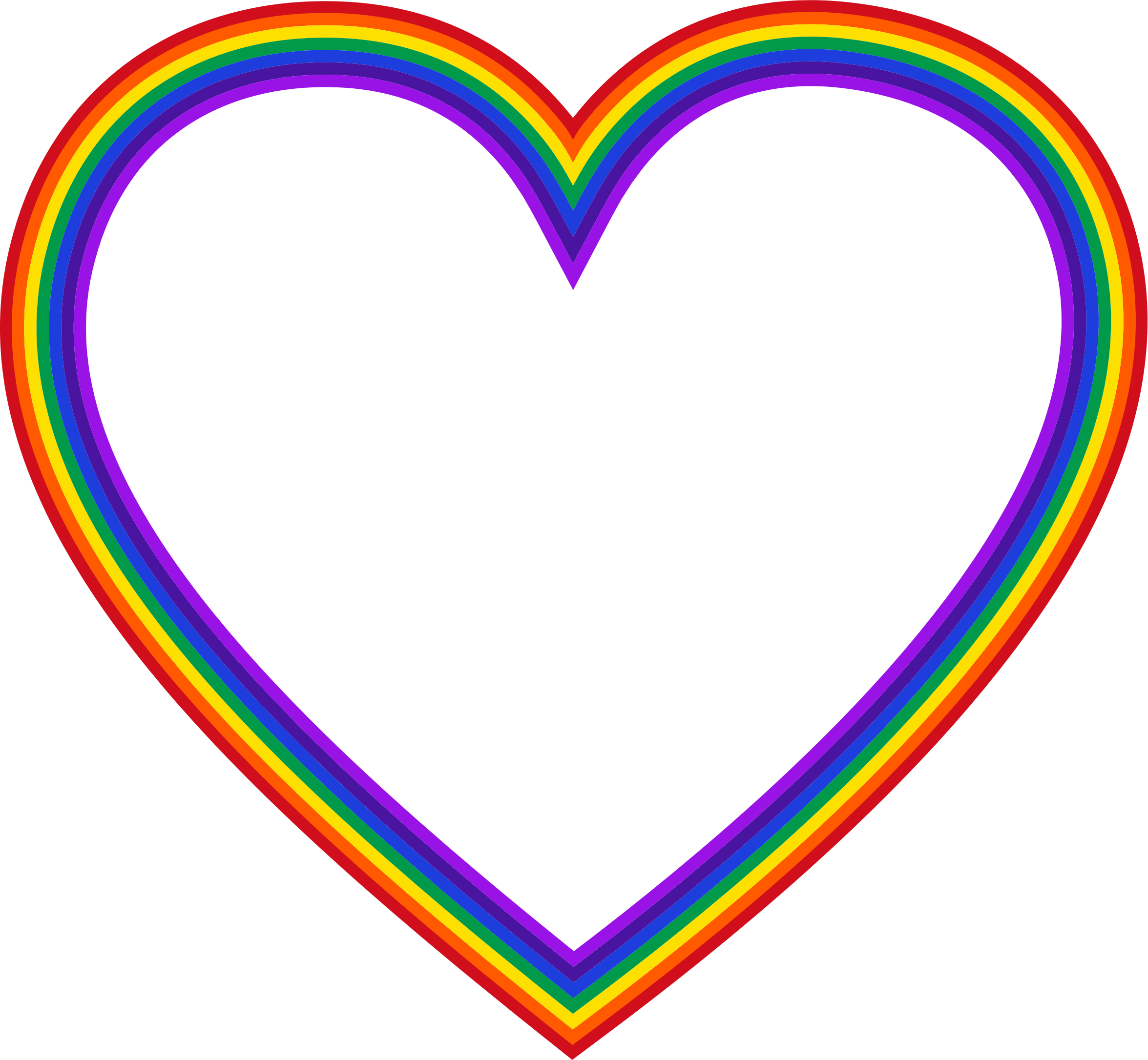 Heart Clip Art Clipart Rainbow Heart Transparent Background Png Download 2351x2172 Png Download Rainbow Png Rainbow Heart Free Clip Art