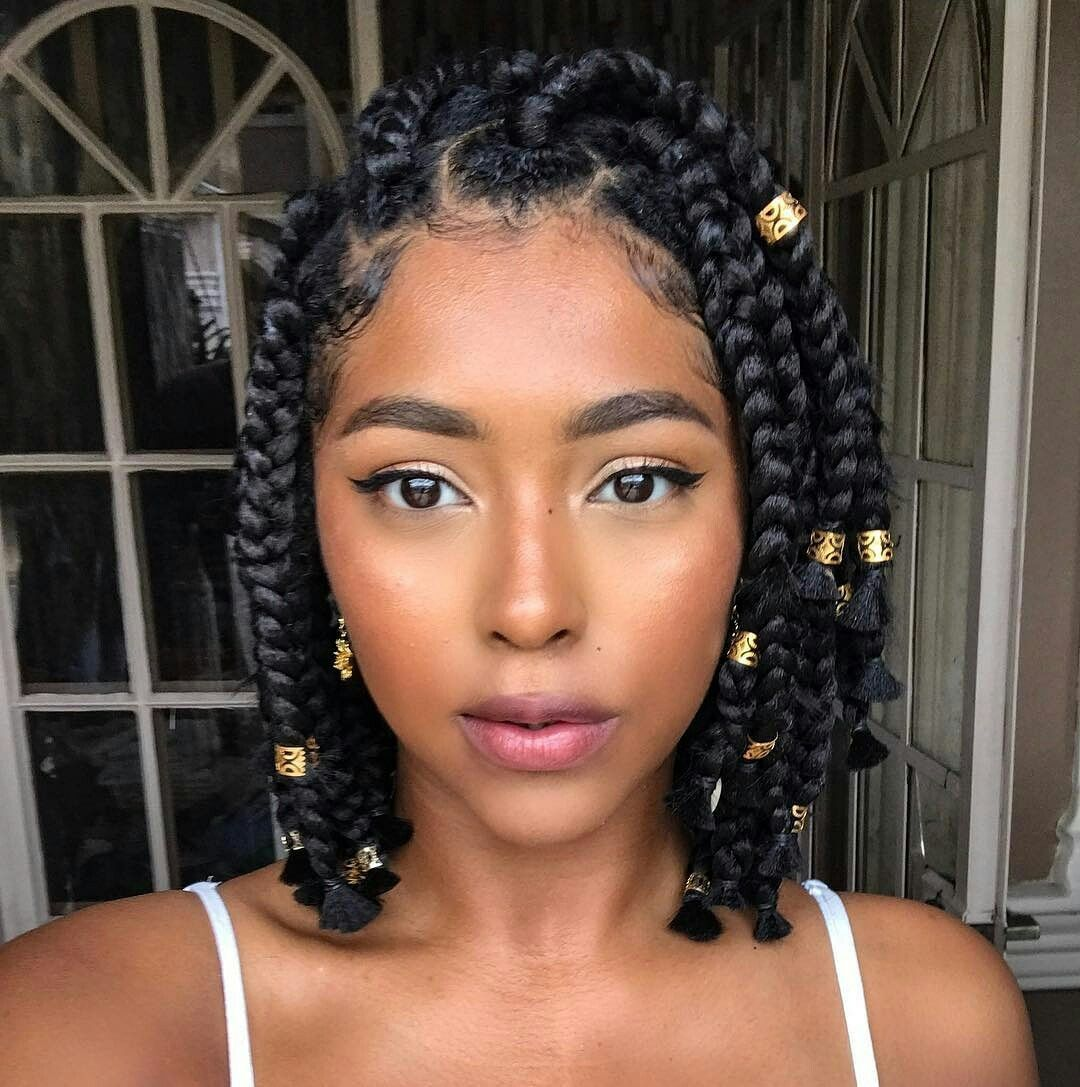 Bob Braids Natural Hair Styles Braided Hairstyles Box Braids Styling