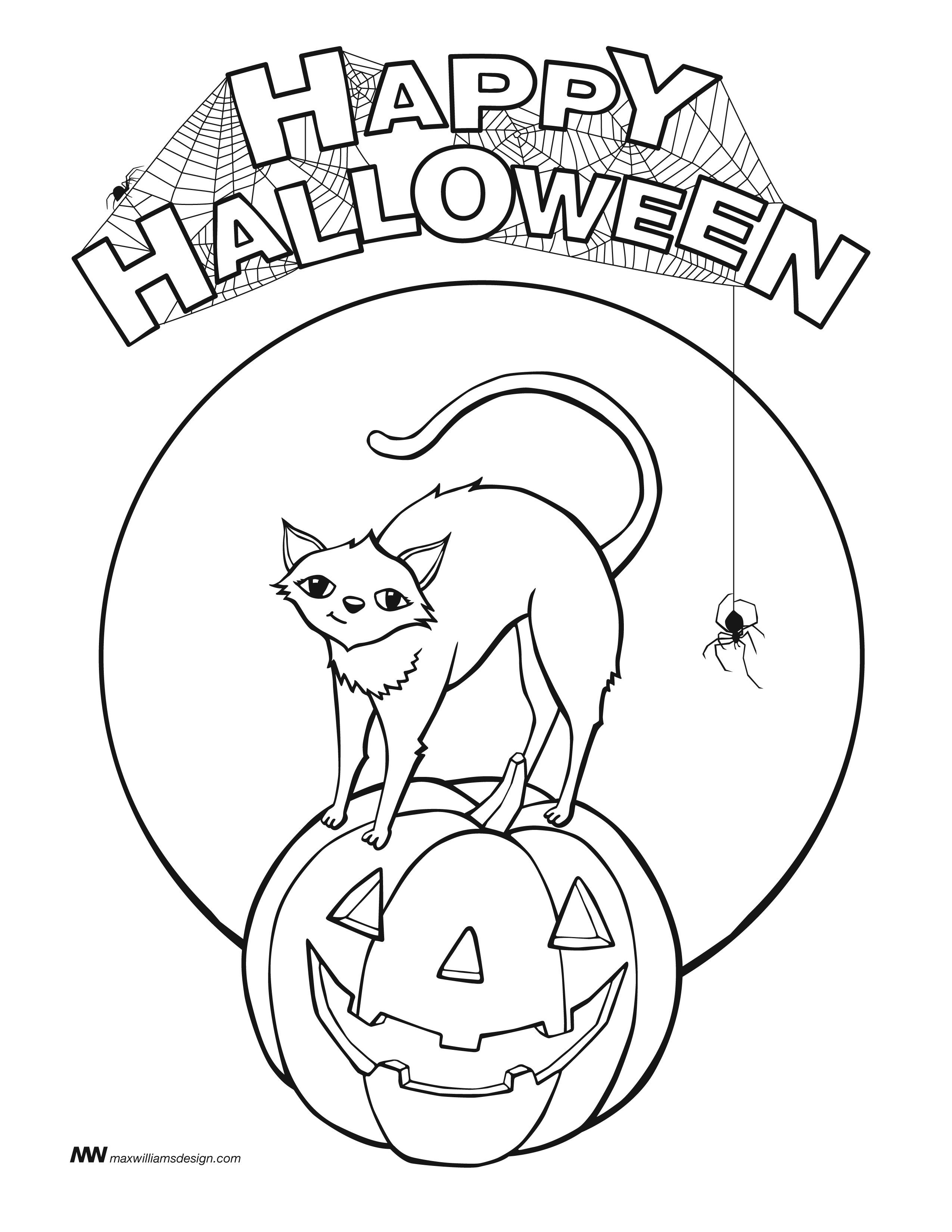 Halloween Coloring Pages Happy Halloween! Free Coloring