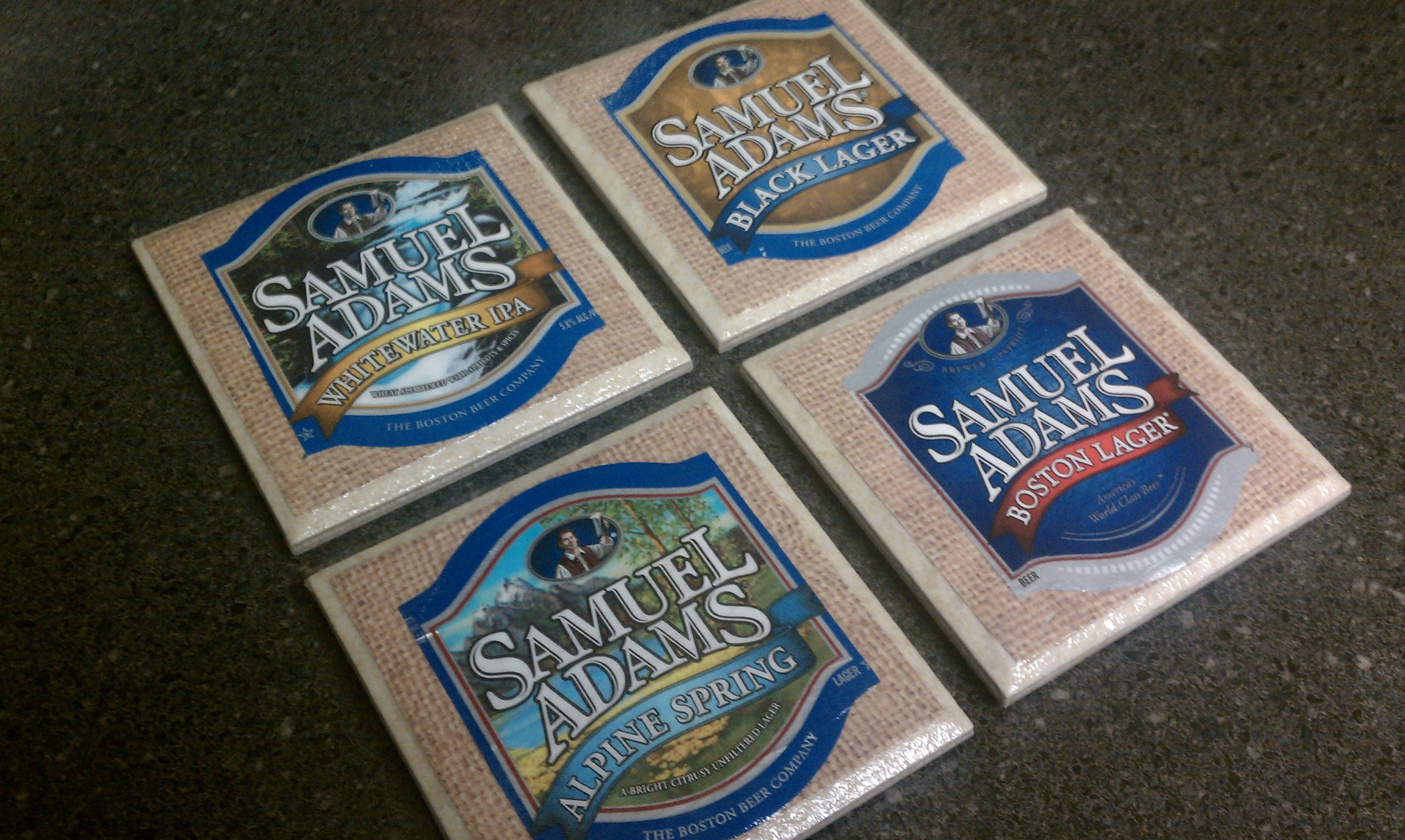 Make Your Own Coasters Using Beer Or Wine Labels 4x4