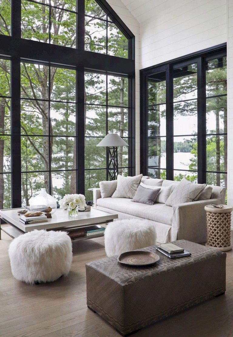 42 Ideas For Living Room Small Rustic Beams Livingroom: 42+ Comfy Lake House Living Room Decor Ideas