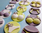 Custom Order for Melissa, Ooh La Lingerie - Pick Your Pieces, Edible Fondant Cupcake Toppers