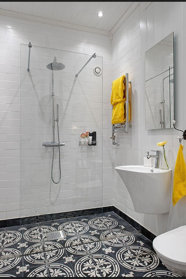 Floor To Ceiling White Subway Mosaic Tile Bathroom Bliss