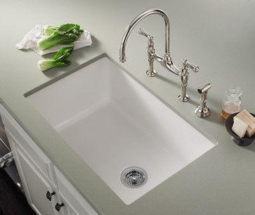 Fireclay Undermount Single Bowl Kitchen Sink Undermount Kitchen Sinks White Undermount Kitchen Sink Sink