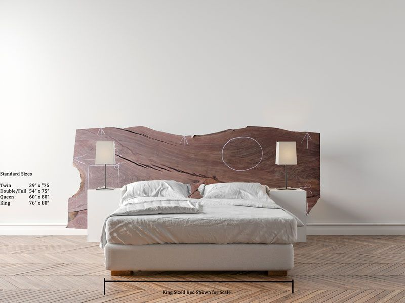 buy popular 238c0 baf0c Claro Walnut King Size Bed Headboard Natural Live Edge Raw ...