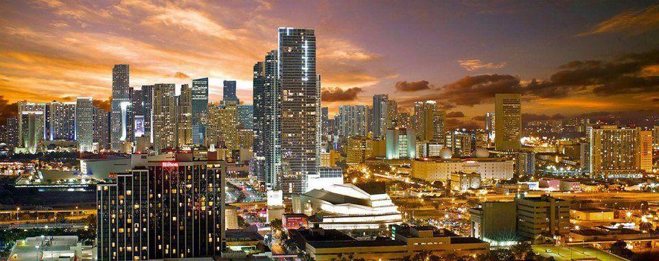Miami skyline #miami #southflorida #southbeach #dadecounty