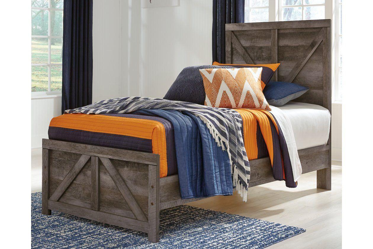 Wynnlow Twin Crossbuck Panel Bed Ashley Furniture