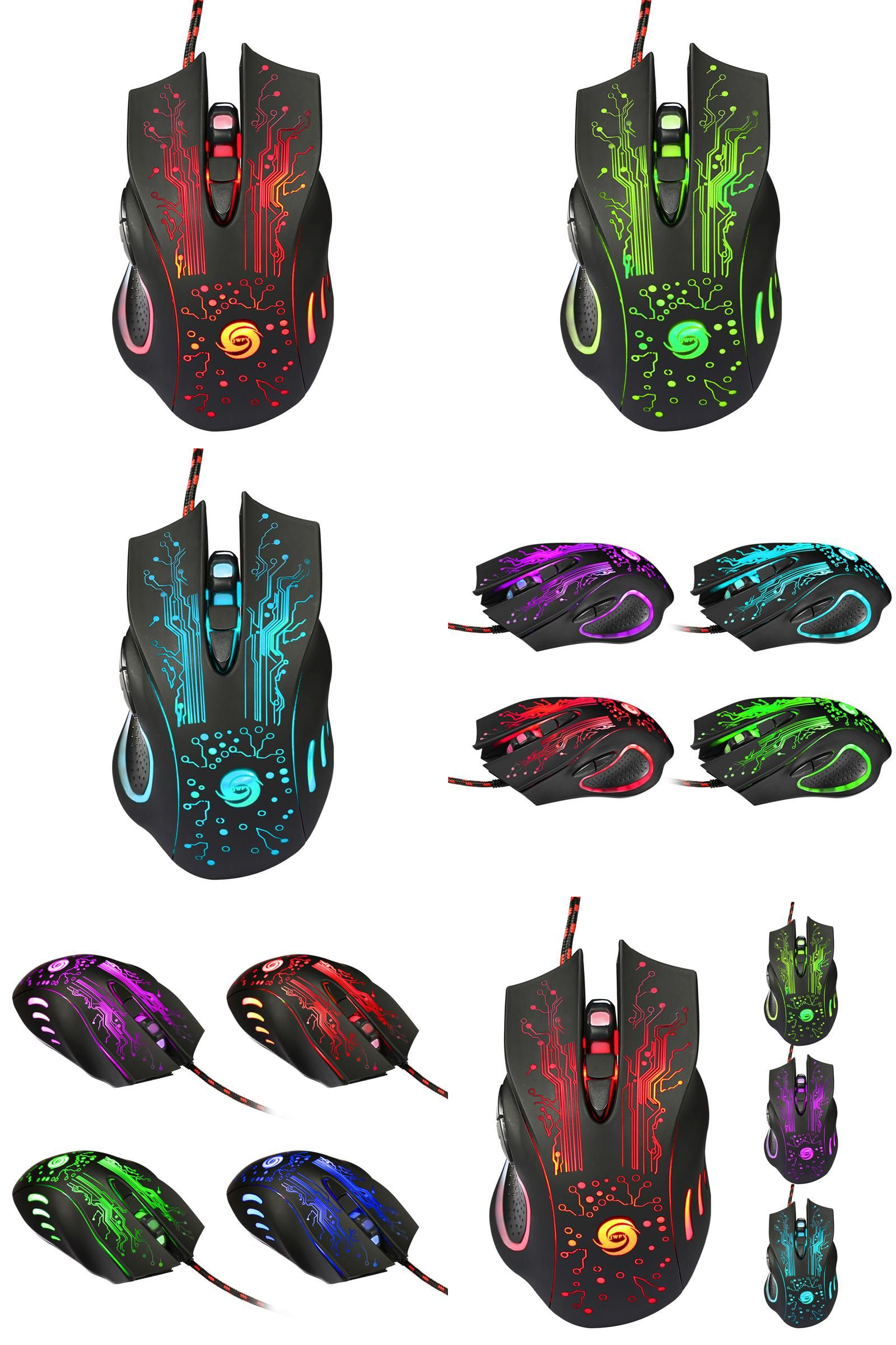 2400DPI LED Optical 6D USB Wired Gaming Game Mouse For PC Laptop Game