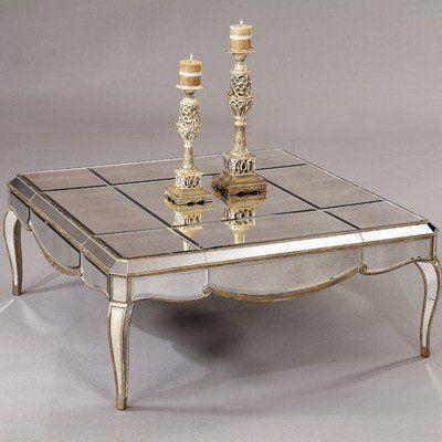 Bassett Mirror T1267 130 Collette Square Coffee Table In Antique
