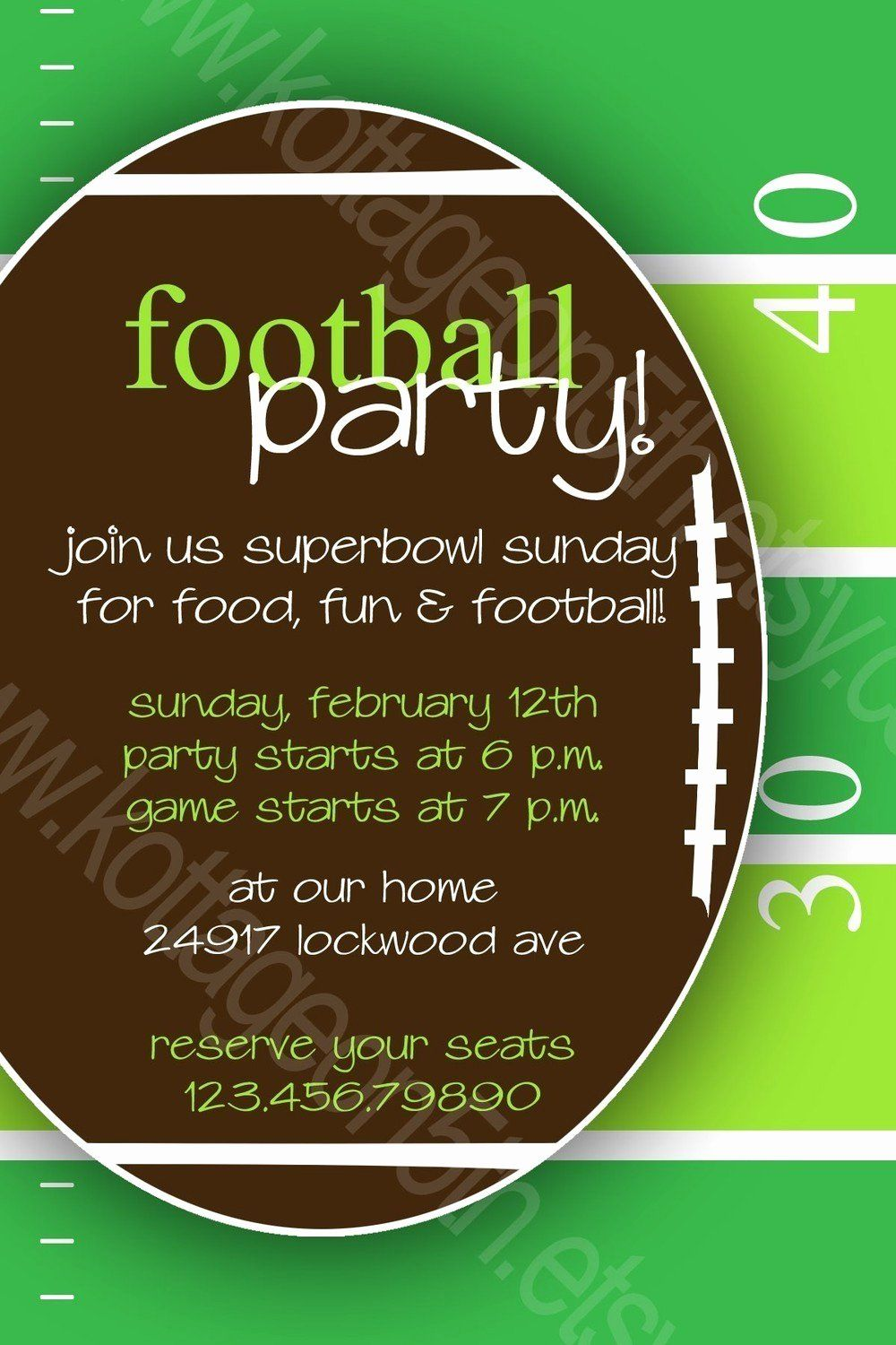 Superbowl Party Invitation Template Best Of Super Bowl Party
