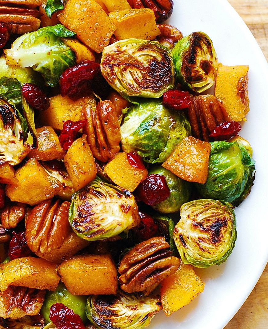 Holidays: Roasted Butternut Squash and Brussels sp