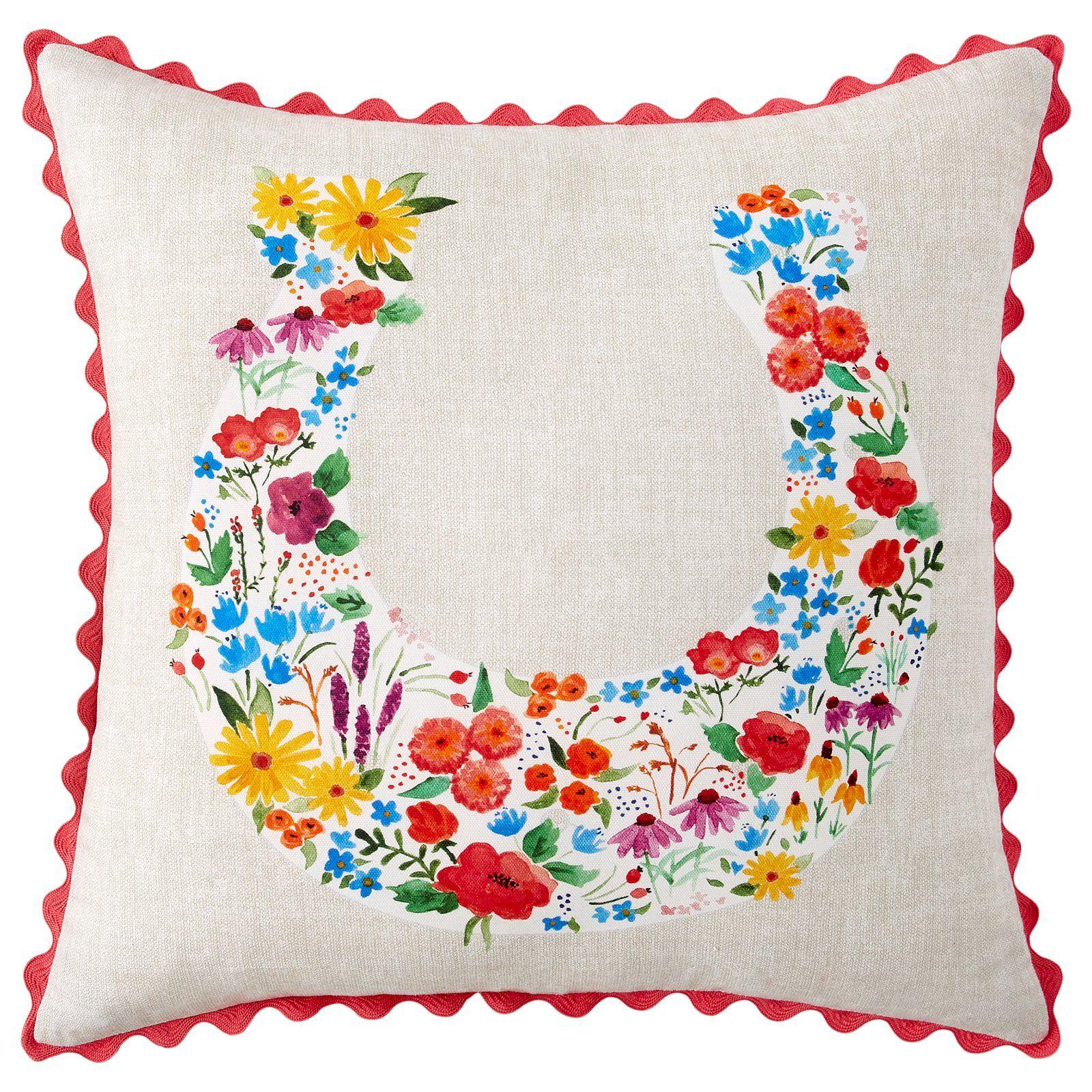 The Pioneer Woman Flowering Horseshoe Decorative Pillow Women S