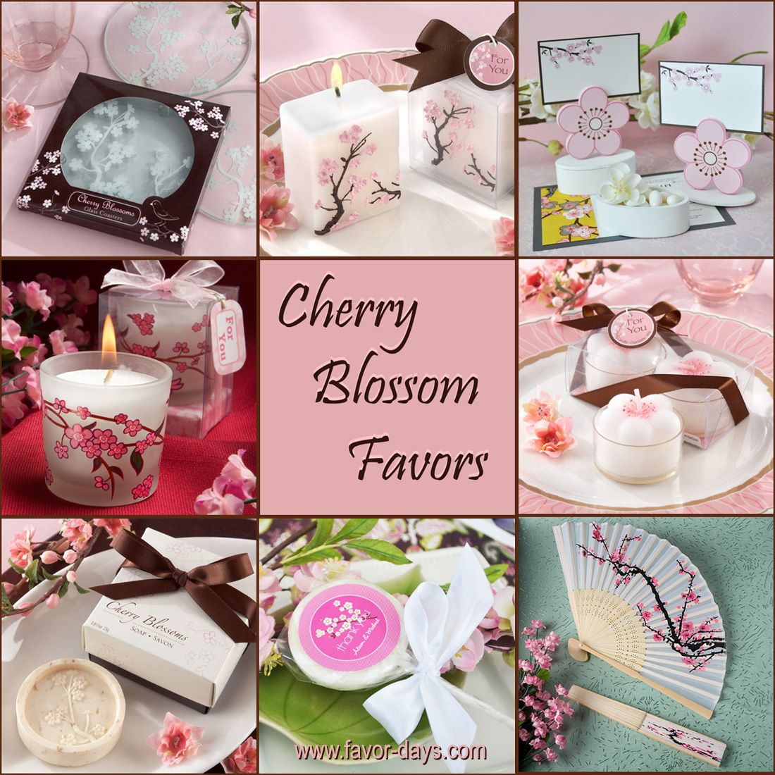 Cherry blossom themed favors | 18th party | Pinterest | Favors ...